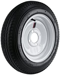 """Kenda Loadstar (12x4""""/4x4"""") Wheel with White Powder-Coat Finish LRB and Trailer Tire Assembly (480-12) at Sears.com"""