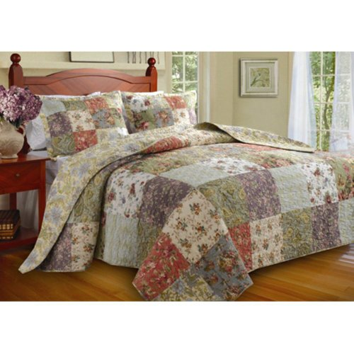 Blooming Prairie Bedspread Set Size: King front-216161