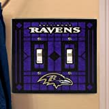 Baltimore Ravens - NFL Art Glass Double Switch Plate Cover Amazon.com