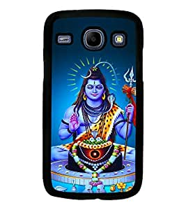 Fuson Premium Lord Shiva Metal Printed with Hard Plastic Back Case Cover for Samsung Galaxy Core i8260 i8262