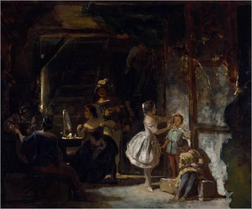 Poster Behind the scenes, around 1855/60 by Carl Spitzweg / ARTOTHEK - high quality art print, new art poster, format 50 x 40 cm