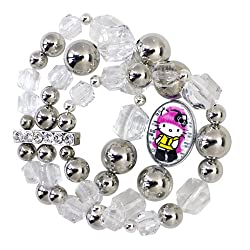 Tarina Tarantino Hello Kitty Pink Head Taxi Mod Triple Row Bracelet
