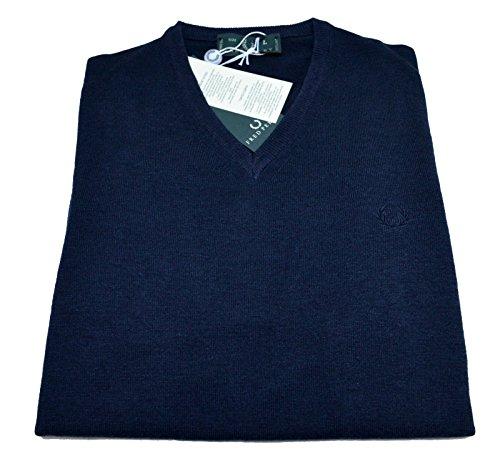 Maglia Uomo Men Fred Perry Made In Italy maglione Lana 100% Wool scollo V