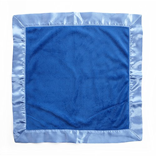 One Grace Place Simplicity Blue Binky Blanket, Blue and Light Blue