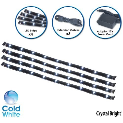 Crystal Brite Accent Strip CW Black Cool White LED Tape Strip System
