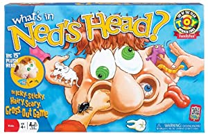 POOF-Slinky 0X2460 Ideal What's In Ned's Head Game with 15-Inch Plush Head