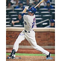 Ike Davis Home pins. Jersey Batting Vertical 16x20 Photograph withGW HR Inscribed(MLB...