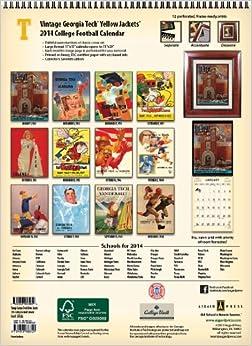 Georgia Tech Yellow Jackets 2014 Vintage Football Calendar