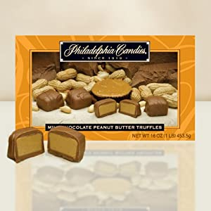 Philadelphia Candies Milk Chocolate Peanut Butter Truffles Gift Box