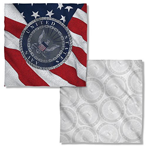 United States Navy Armed Forces Seaborne Branch Flag Seal Front/Back Bandana