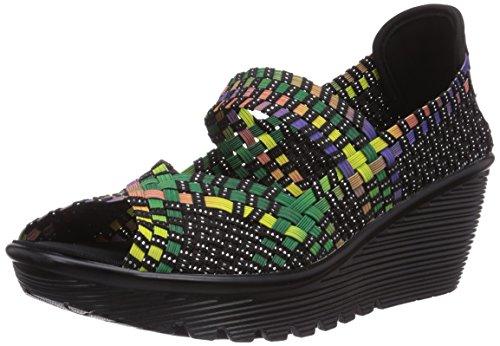 Skechers Parallel, Sandali aperti donna, Multicolore (Mehrfarbig (MLT)), 39