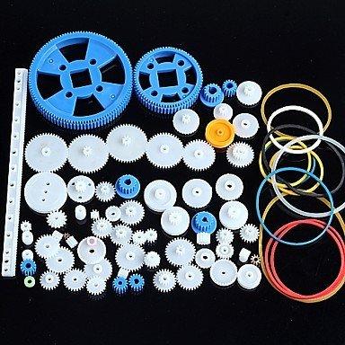 80types de vitesses à engrenages Gear en plastique Contenu de robot Kit d'accessoires