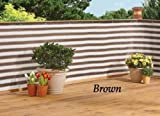 Deck & Fence Privacy Netting Screen (BROWN)