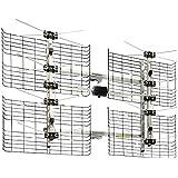 High Gain Bowtie Indoor/Outdoor HDTV Antenna - 60 Mile Range
