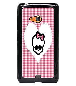 PrintDhaba Heart D-3529 Back Case Cover for MICROSOFT LUMIA 540 (Multi-Coloured)