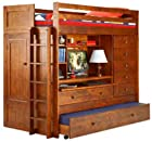 BUNK BED ALL IN 1 LOFT WITH TRUNDLE DESK CHEST CLOSET Paper Plans SO EASY BEGINNERS LOOK LIKE EXPERTS Build Your Own Using This Step By Step DIY Patterns by WoodPatternExpert