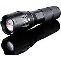 10000Lumens XM-L T6 Zoomable Tactical military LED 18650 Flashlight Torch