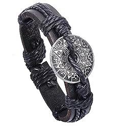 Sorella'z Black Circle Cowhide Bracelet