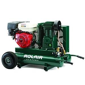 ROLAIR 8-HP 9-Gallon Two-Stage Wheelbarrow Air Compressor w/ Honda Engine - 7722HK28