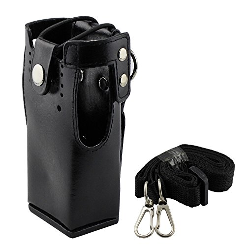 abcGoodefg Motorola Hard Leather Case Carrying Holder Holster for Motorola two Way Radio HT750 HT1250 HT1550 GP320 GP340 GP360 (Radio Belt Holder compare prices)