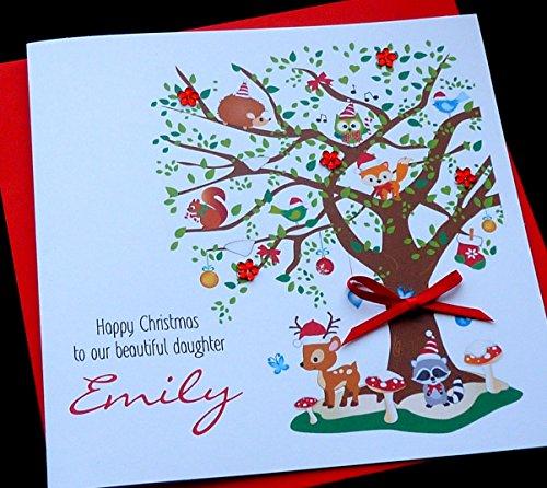 handmade-personalised-woodland-tree-animals-christmas-design-card-granddaughter-niece-cousin-daughte