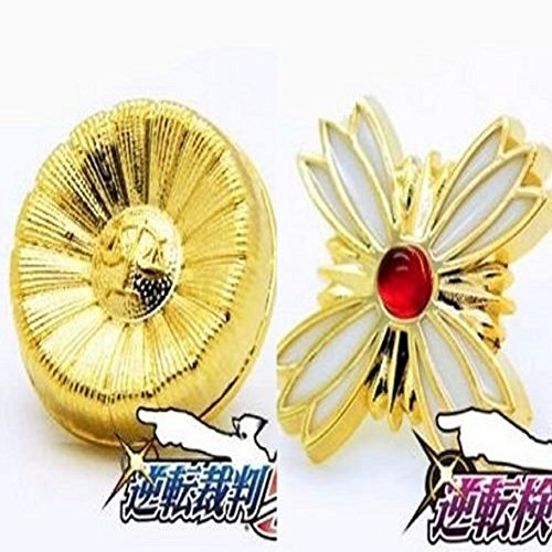 i-will-judge-ace-attorney-emblem-badge-batch-prosecutor-and-lawyer-sunflower-cosplay-accessory-tool-