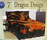Dragon Bedroom Bedding Set 7pcs Queen Size Bedding