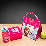 Zak! Designs Tritan Water Bottle with Straw with Anna and Elsa from Frozen, 16.5-Ounce