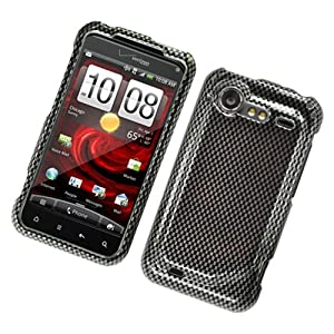 Eagle Cell PIHTC6350G127 Stylish Hard Snap-On Protective Case for HTC Droid Incredible 2 - Retail Packaging - Carbon Fiber