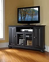 Big Sale Crosley Furniture Alexandria 48-Inch Corner TV Stand, Black