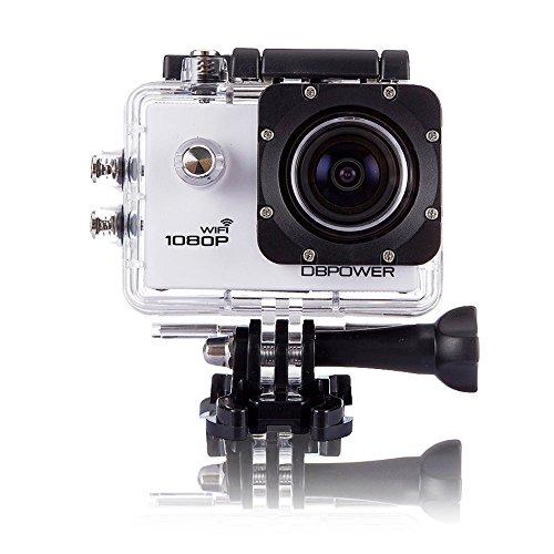 DBPOWER wifi搭載 スポーツカメラ SJ4000 ホワイト 30メートル防水 1080P 1200万画素 170度広角レンズ アウトドアスポーツや空撮に最適