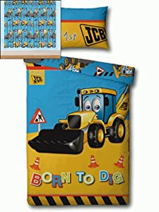 Jcb Digger Tractor Bedding And Curtains 54s Amazon Co