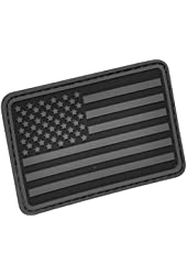 USA Flag (Left Arm) Rubber Velcro Patch by Hazard 4(R)