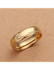 Hot Style Noble Jewelry 18K Gold Plated Fashion Women Ring Pure Love A Zircon Men'S Size 7