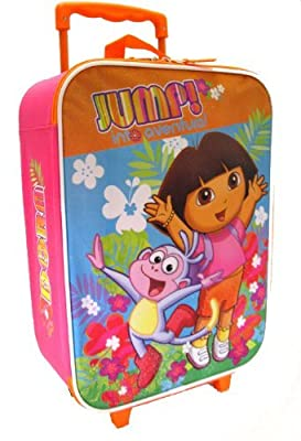 Nick Jr Dora The Explorer Suitcase - kids carry-on luggage from Nickelodeon