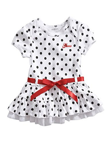 Guess Kids Girls Newborn Girl Polka-Dotted Dress With Bloomers (0-9M)