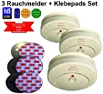 JME GS506 3er Set Rauchmelder/ Brandm...