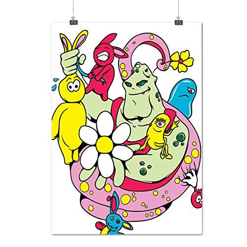 pazzo Mostro Vita Personaggi Opaco/Lucida Poster A1 (84cm x 60cm) | Wellcoda