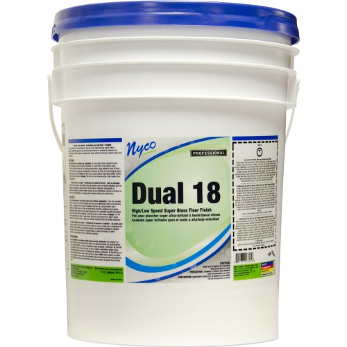 Nyco Products Nl136-P5 Dual 18% Solids Super Gloss Floor Finish, 5-Gallon Pail front-297239