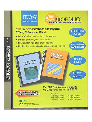 Itoya Clear Cover Profolio Presentation Books 60 pages (120 views)