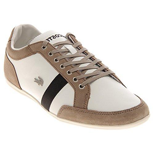 Lacoste Men'S Alisos Sneaker,Off White/Black/Light Brown,12 M Us