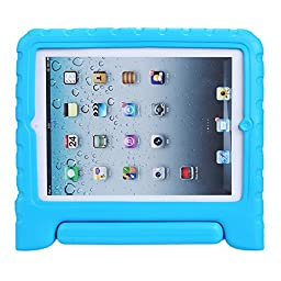 NEWSTYLE Kids Friendly Light Weight Shock Proof Protective Handle Case for iPad 2/3/4 (2nd, 3rd, & 4th Gen), Blue