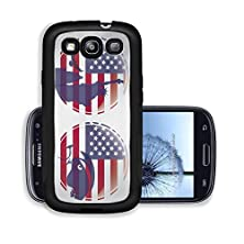 buy Liili Premium Samsung Galaxy S3 Aluminum Case Two Circles Of The American Flag With An Eagle And Some Buildings As Silhouettes Image Id 22898597