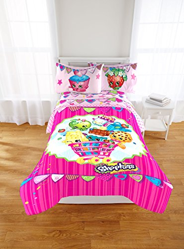 "Discover Bargain Shopkins ""Flag"" REVERSIBLE Twin/Full Size Microfiber Comforter"