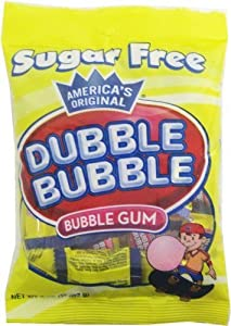 Dubble Bubble Sugar Free Gum - 3.25 oz