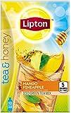 Lipton To Go Stix Iced Green Tea Mix, Tea and Honey, Mango Pineapple, 10 Count (Pack of 6)