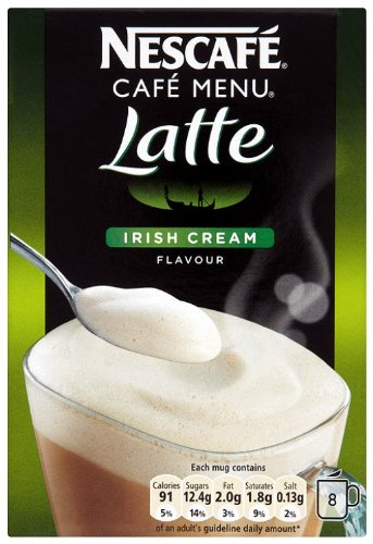 Nescafé Café Menu Irish Cream 8 Sachets (Pack of 6, Total 48 Sachets)
