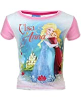 T-shirt Manches courtes Elsa and Anna La Reine des Neiges Fille