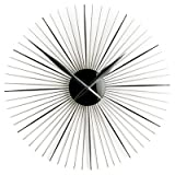 50CM DIA BLACK COLOUR ACRYLIC WALL CLOCK WITH CHROME HANDSby PRIME FURNISHING