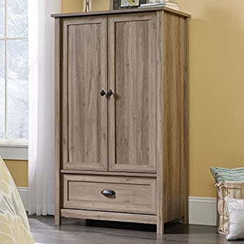 Sauder County Line Armoire in Salt Oak